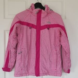 The North Face girls hyvent houndstooth jacket